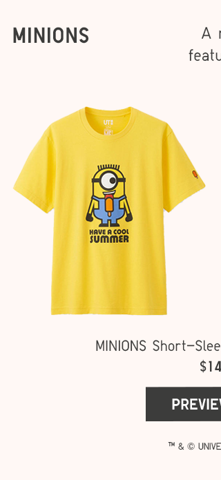 MINIONS SHORT-SLEEVE GRAPHIC T-SHIRTS $14.90 - SHOP ADULTS
