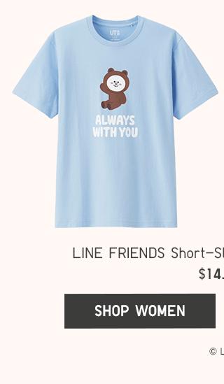 LINE FRIENDS SHORT-SLEEVE GRAPHIC T-SHIRTS $14.90 - SHOP WOMEN
