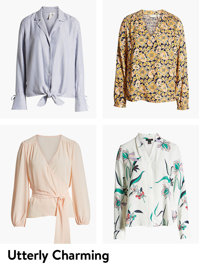 Utterly charming women's tops.