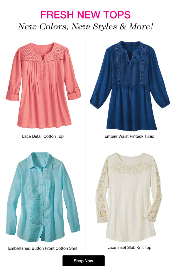 Shop Fresh New Tops for Spring