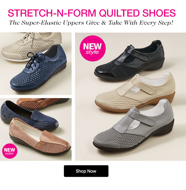 Stretch-n-Form Quilted Shoes