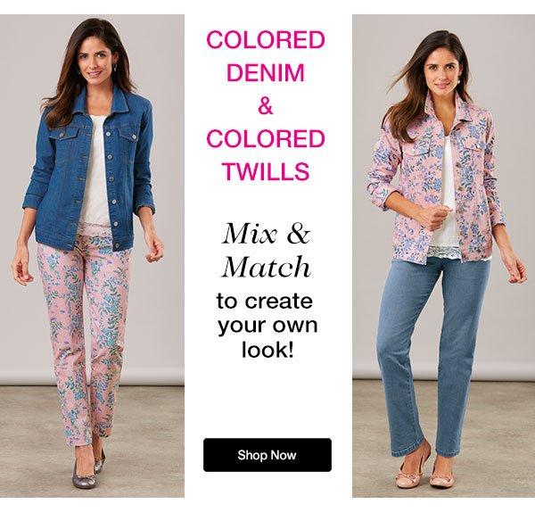 Colored Denim & Colored Twills