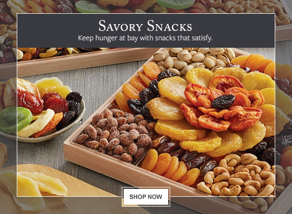 Savory Snacks - Keep hunger at bay with snacks that satisfy.