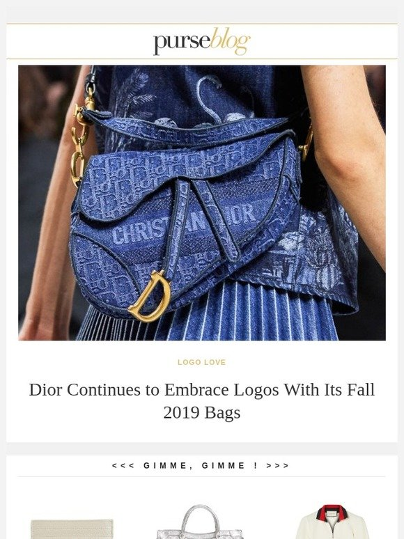 c0cceb0ba97 PurseBlog  Brand New Dior Bags Straight from the Fall 2019 Runway ...