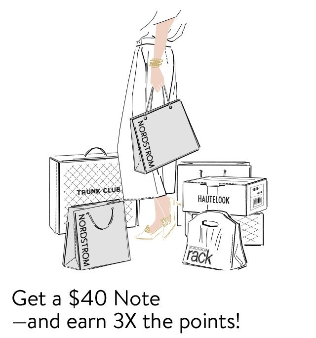 Get a $40 Note–and earn 3X the points!