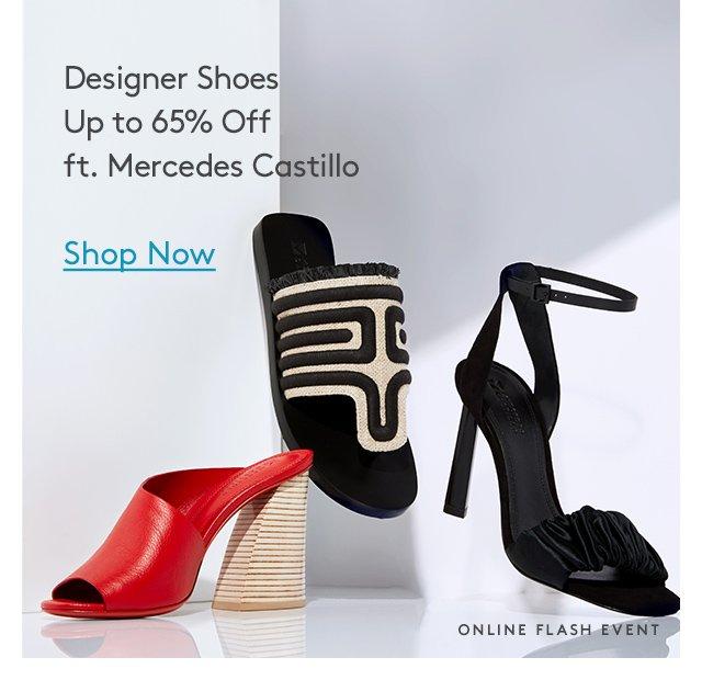 Designer Shoes Up to 65% Off ft. Mercedes Castillo | Shop Now | Online Flash Event