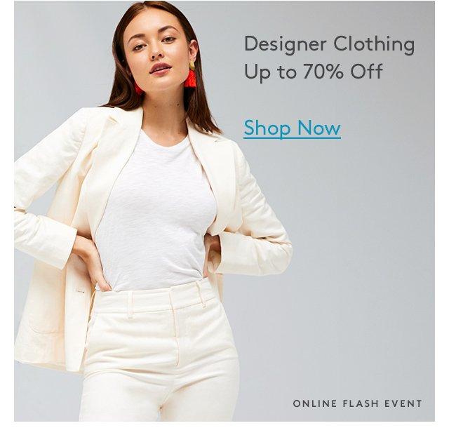 Designer Clothing Up to 70% Off | Shop Now | Online Flash Event