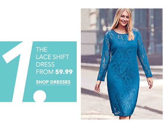 The Lace Shift Dress from $59.99