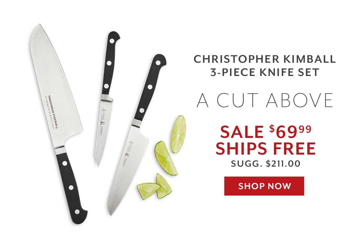 Christopher Kimball 3-PC Knife Set