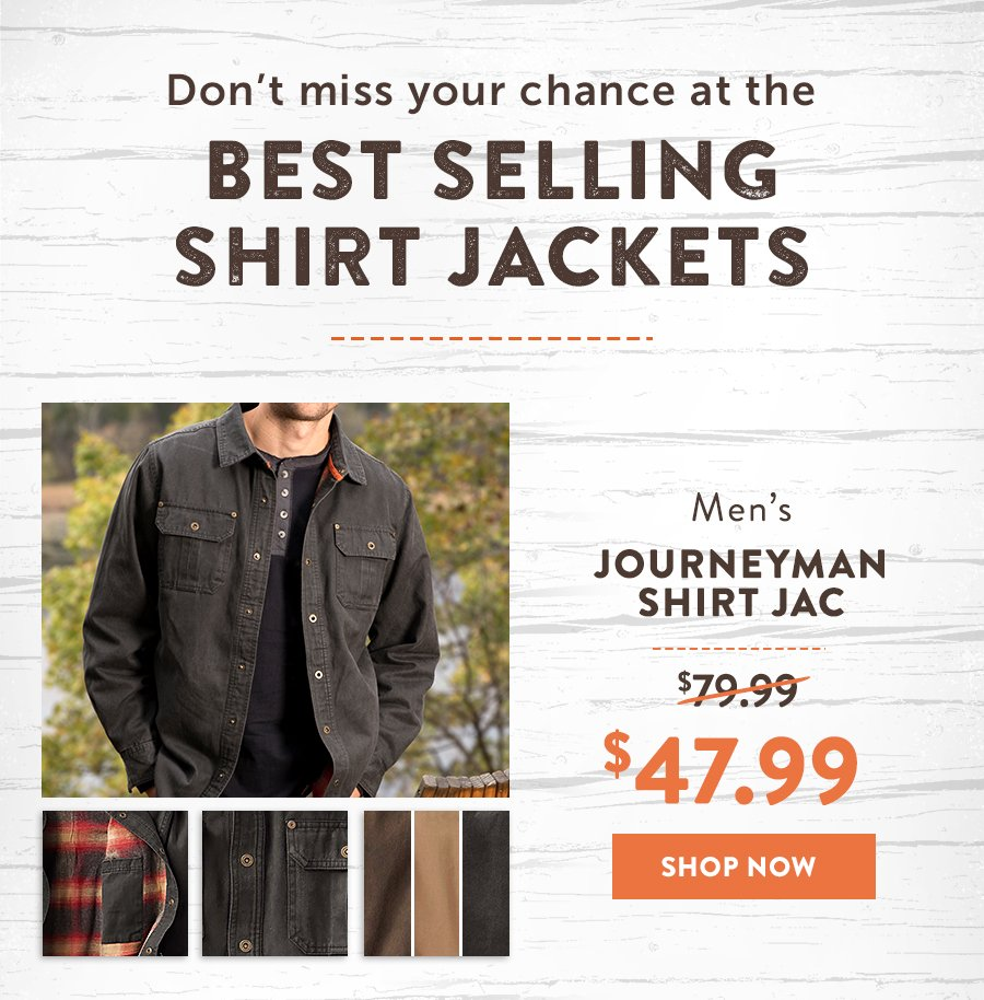 40% Off Everything - Journeyman Shirt Jacket