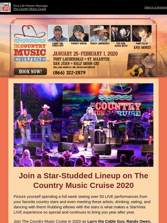 Country Music Cruise 2020.Timelife Com See Classic Country Superstars On The Country