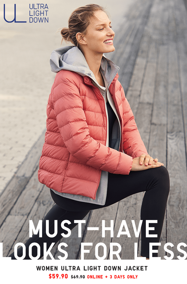 WOMEN ULTRA LIGHT DOWN JACKET $59.90