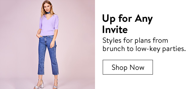 Outfits for any invite.
