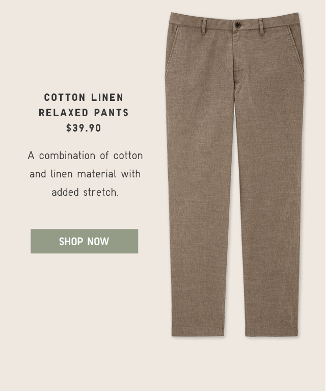 COTTON LINEN RELAXED PANTS $39.90 - SHOP NOW