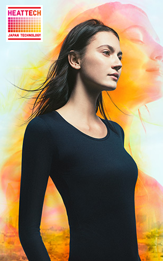 WOMEN HEATTECH CREW NECK LONG-SLEEVE T-SHIRT $14.90
