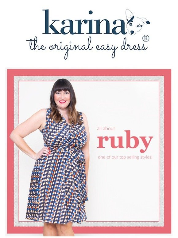 eb4ac371cd7 Karina Dresses  All About Ruby - Our Faux Wrap Dress!