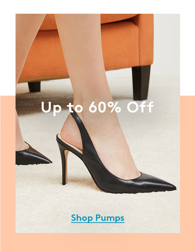 Up to 60% Off | Shop Pumps