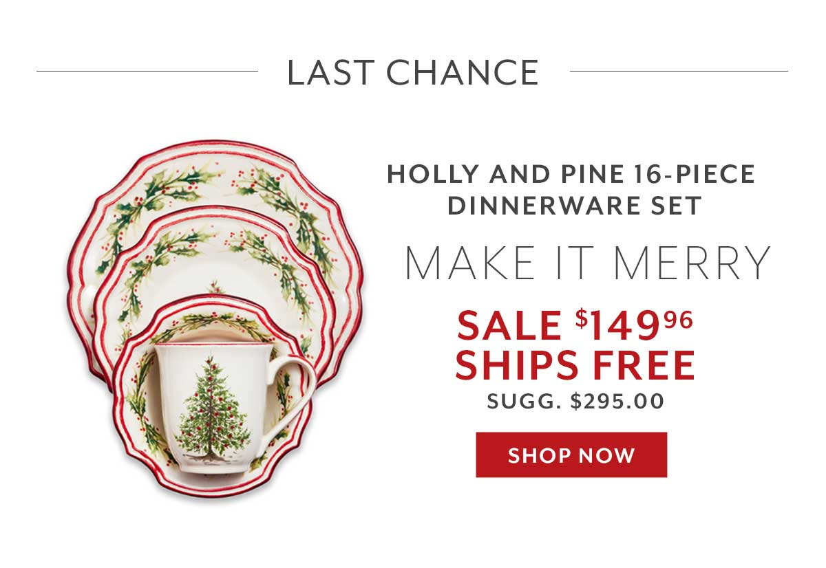 Holly & Pine Dinnerware Set