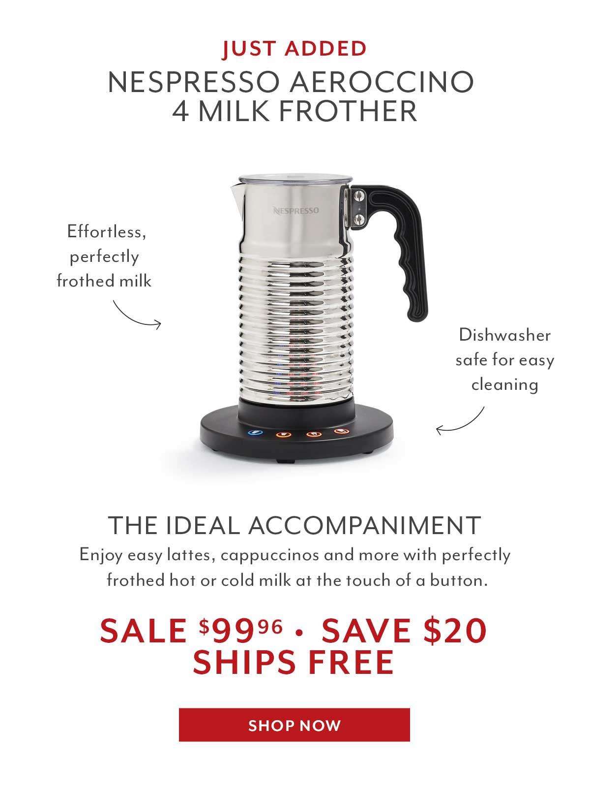 Aeroccino Frother