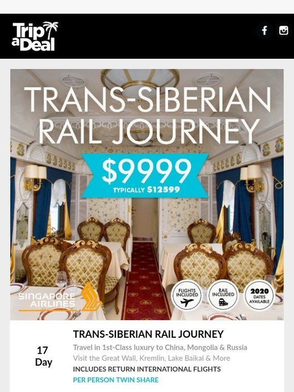 Journey Tour Dates 2020.Tripadeal Trans Siberian Journey Now Back With 2020
