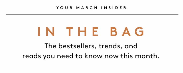 What to shop and read this month..