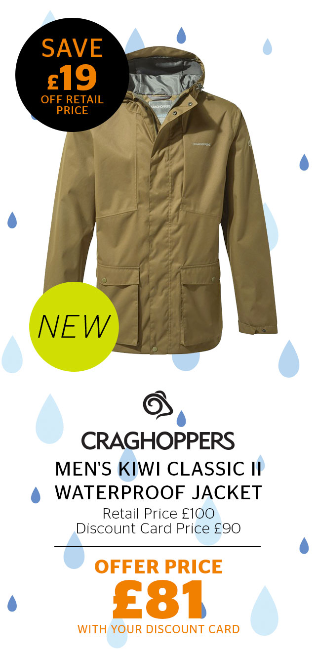 Craghoppers Men's Kiwi Classic II Waterproof Jacket