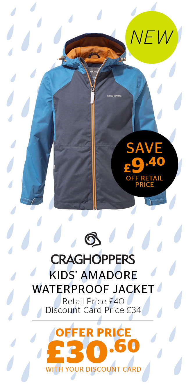 Craghoppers Kids' Amadore Waterproof Jacket