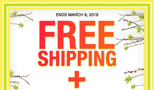 Get FREE SHIPPING plus FREE RETURNS on orders of $25 or more when you use promo code TRYUS at checkout.
