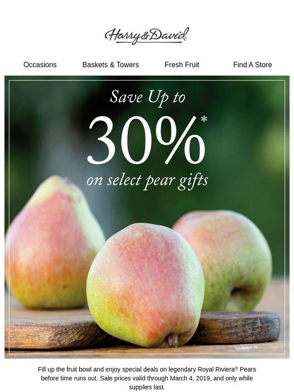 31dabd1d4d08 Cushman's: Super savings on pears? You won't want to miss this! | Milled