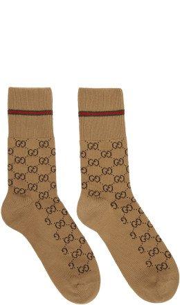 Gucci - Biege GG Socks