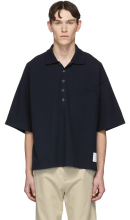 Thom Browne - Navy Oversized Classic Polo