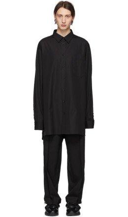 Maison Margiela - Black Poplin Shirt