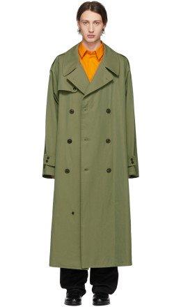 Maison Margiela - Green Gabardine Trench Coat