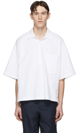 Thom Browne - White Oversized Classic Polo