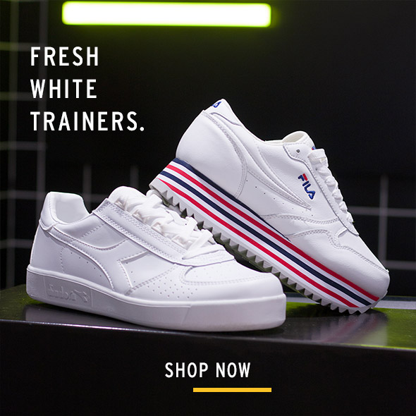 any outfit? Fresh white trainers