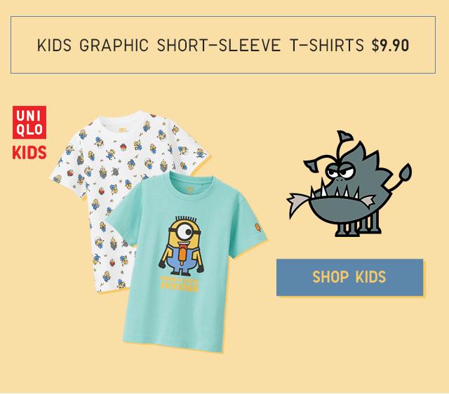 KIDS GRAPHIC SHORT-SLEVE T-SHIRTS $9.90 - SHOP KIDS