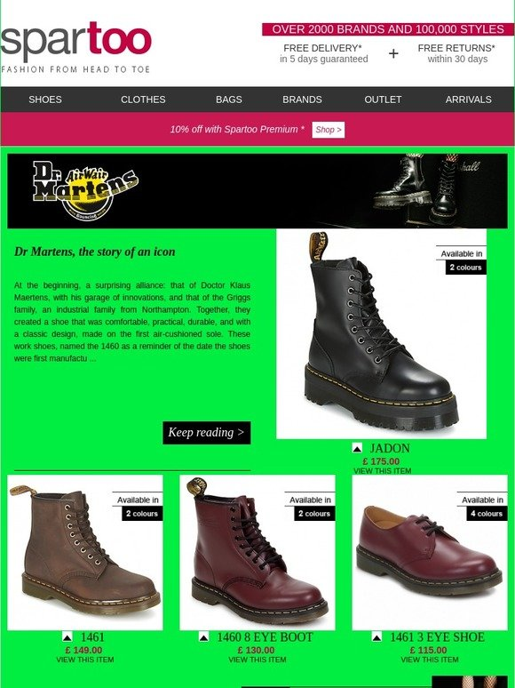 8040fdc1e16 Spartoo.co.uk  Reboot your wardrobe! Free delivery on Dr Martens ...