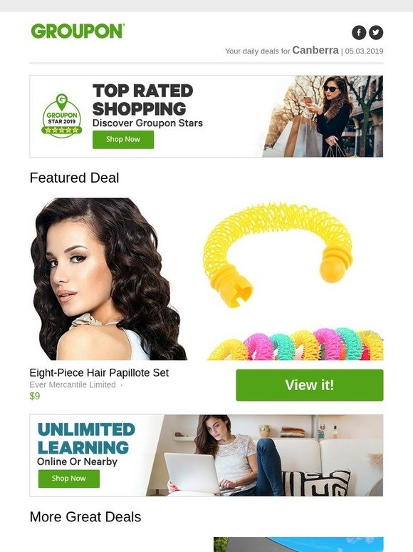Groupon / Stardeals AU: Jaw-dropping Shopping | Eight-Piece