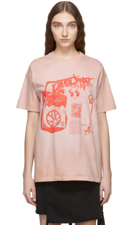 Ottolinger - Pink Logo Graphic T-Shirt