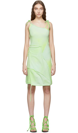 Ottolinger - Green Asymmetric Strap Dress