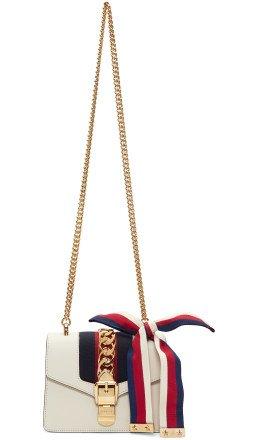 Gucci - White Mini Sylvie Chain Bag