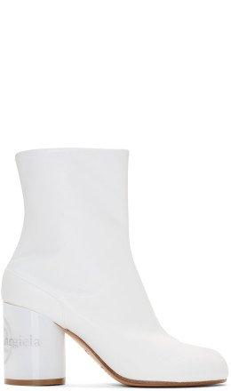 Maison Margiela - White Hologram Tabi Boots