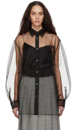 Maison Margiela - Black Tulle Oversized Dress