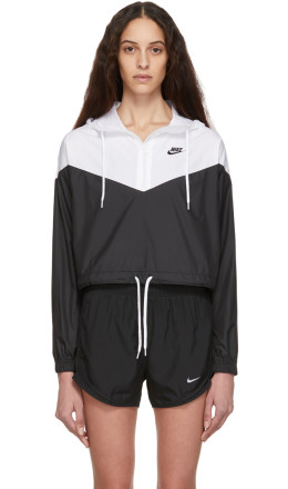 Nike - White & Black Sportswear Windrunner Jacket