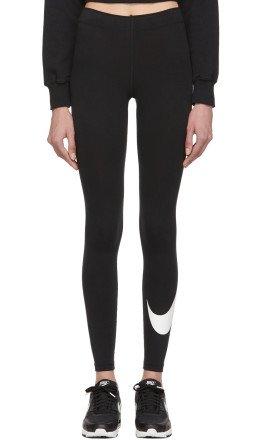 Nike - Black Swoosh Sportswear Leg-A-See Leggings
