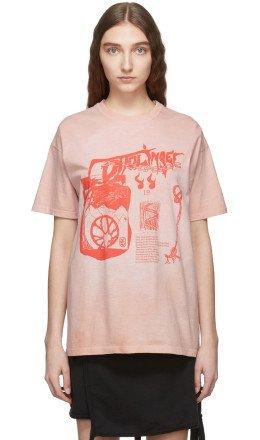 Ottolinger - Pink Logo Graphic T-Shirt