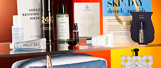 Receive a bag of must-have beauty products.