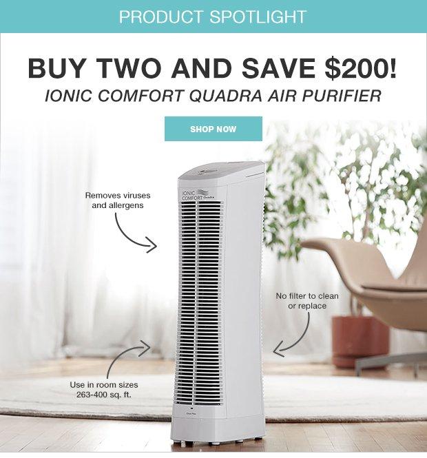Ionic Comfort Quadra Air Purifier
