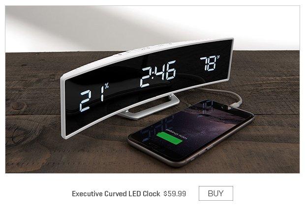 Executive Curved LED Clock