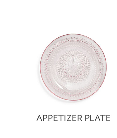 Pastel Glass Appetizer Plate